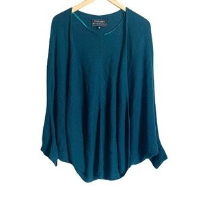 Overland by Indigenous teal batwing open cardigan